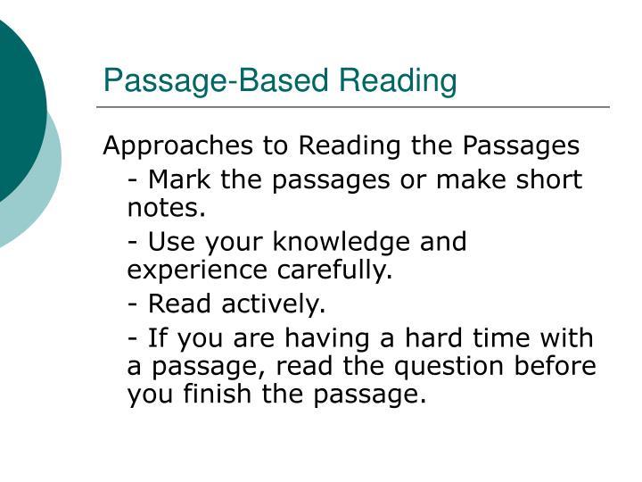 Passage based reading3