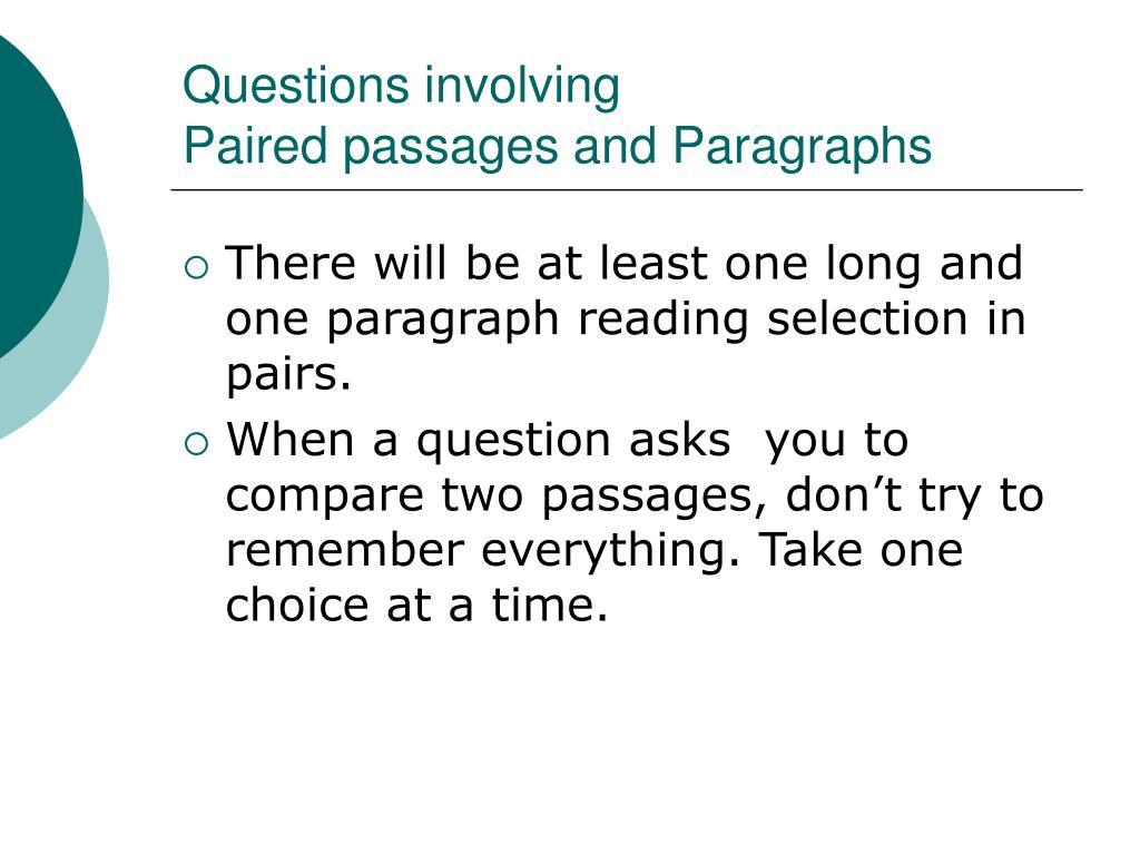 Questions involving