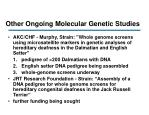 other ongoing molecular genetic studies