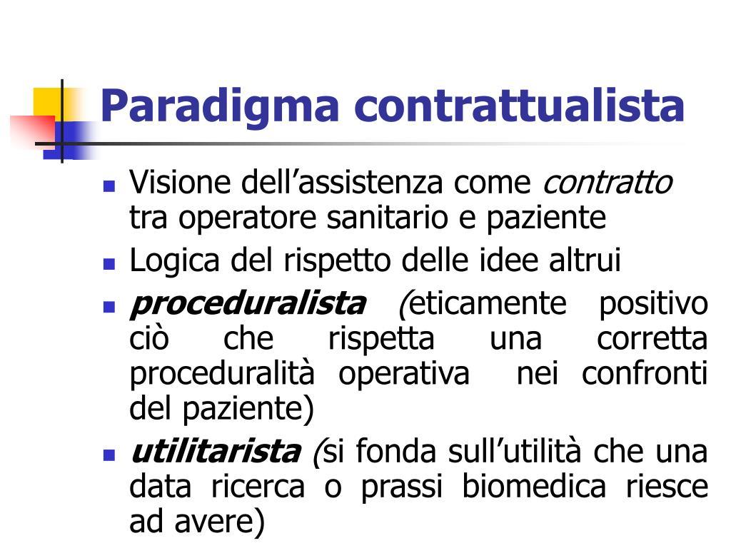 Paradigma contrattualista