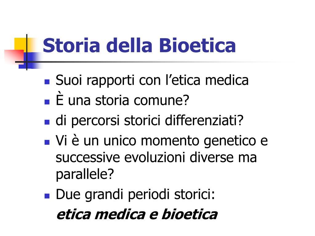 Storia della Bioetica