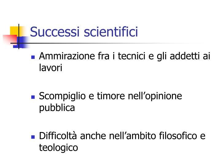 Successi scientifici