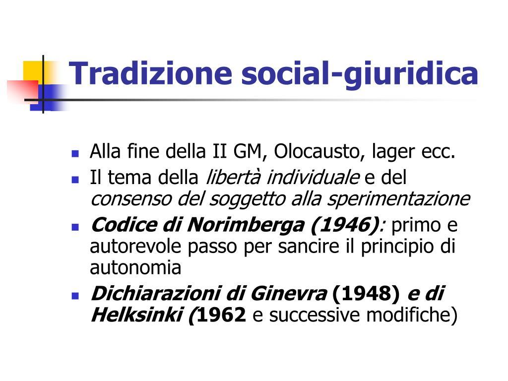 Tradizione social-giuridica