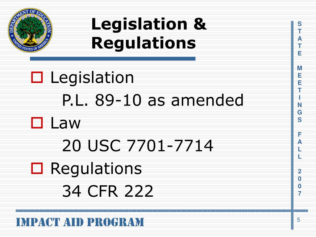 Legislation & Regulations