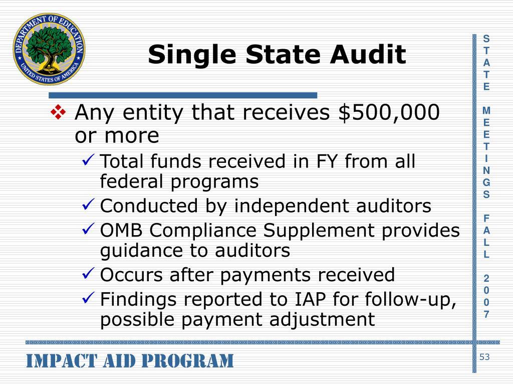 Single State Audit