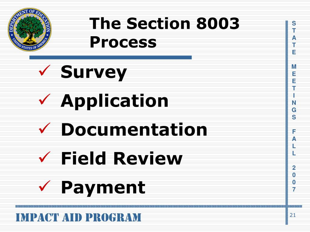 The Section 8003 Process