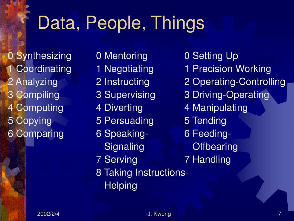Data, People, Things