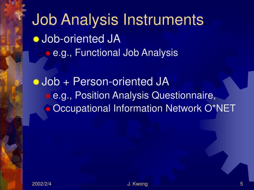 Job Analysis Instruments
