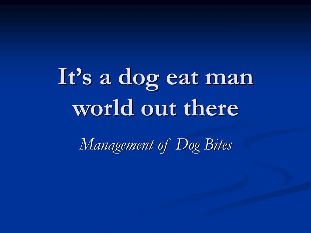 it s a dog eat man world out there l.