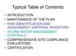 typical table of contents