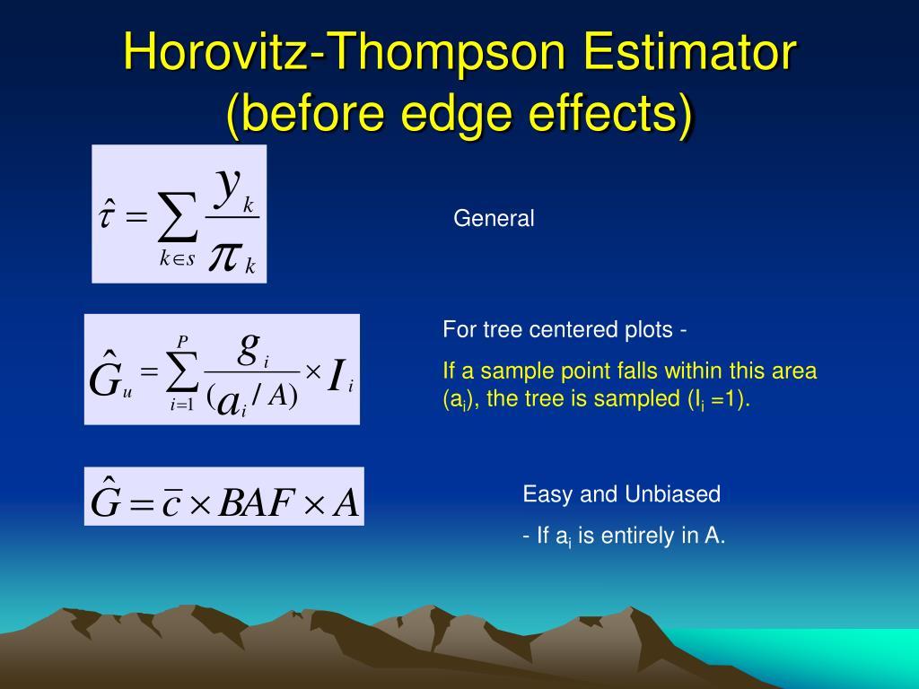 Horovitz-Thompson Estimator