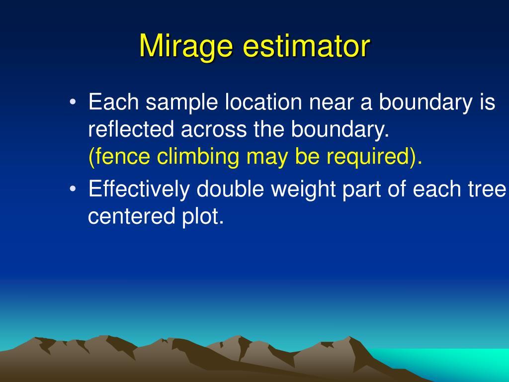 Mirage estimator