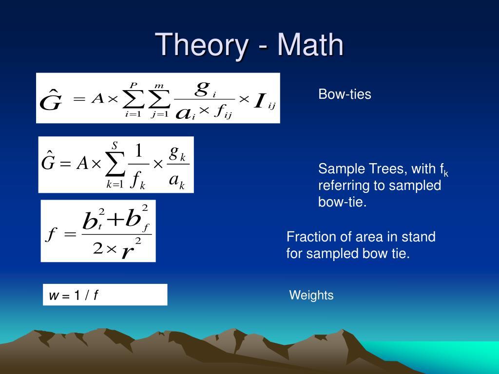 Theory - Math