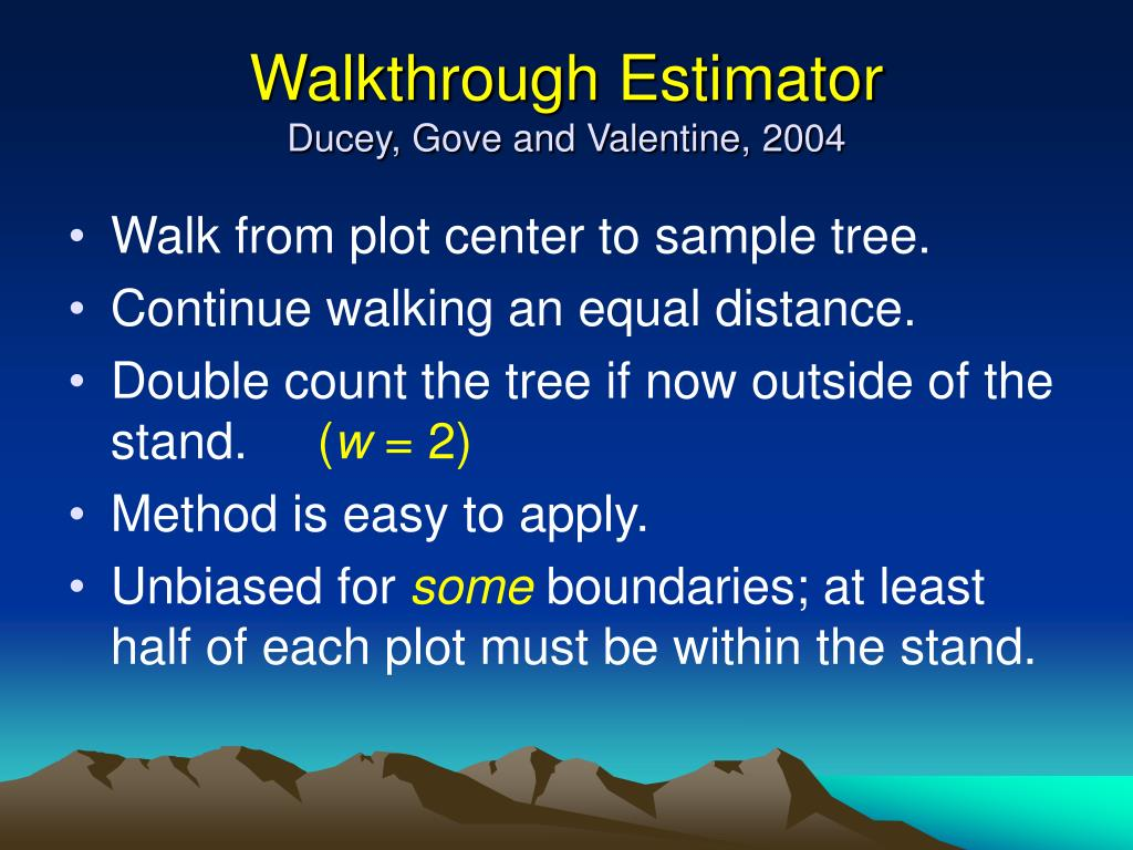 Walkthrough Estimator