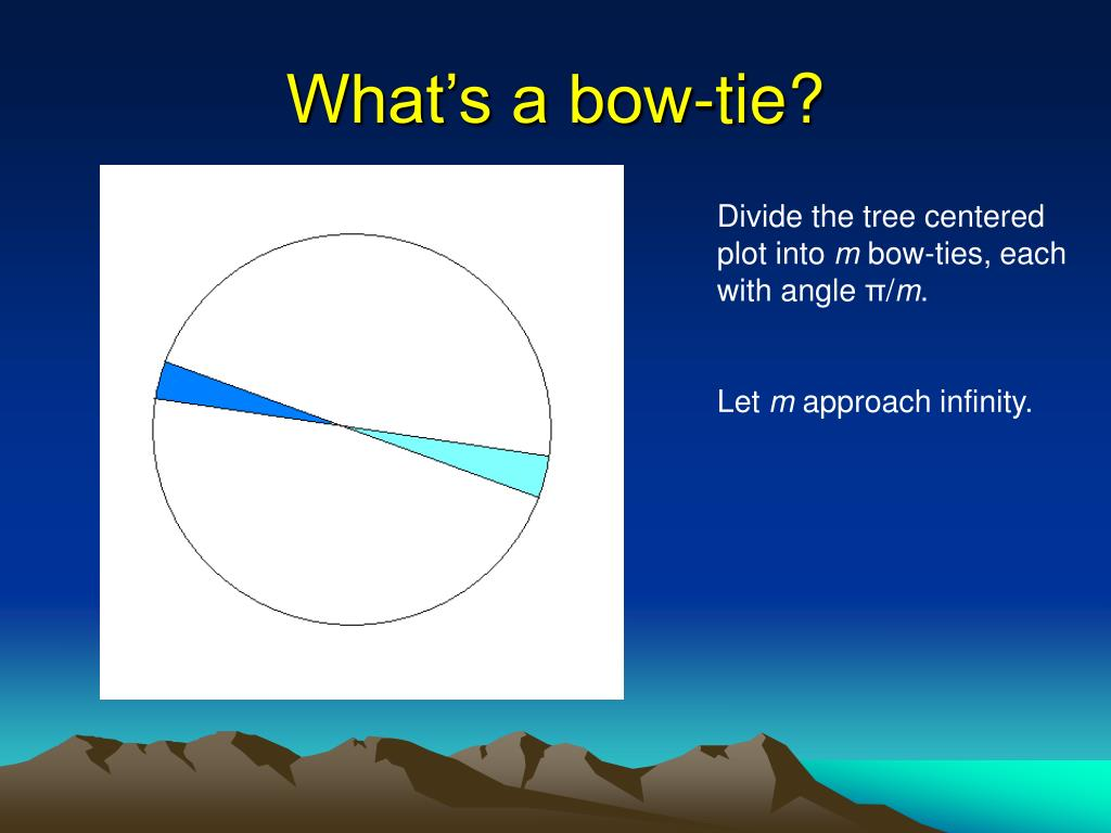What's a bow-tie?