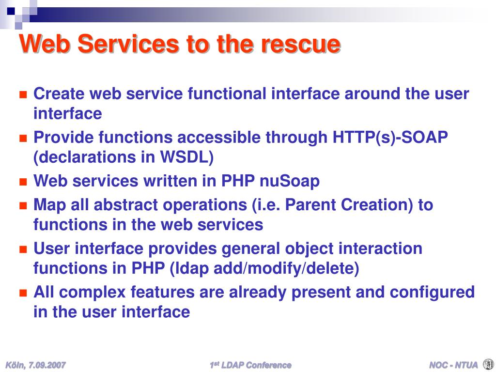 Web Services to the rescue