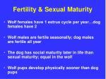 fertility sexual maturity