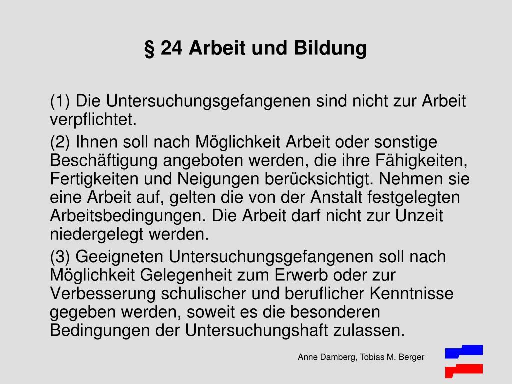 § 24 Arbeit und Bildung