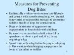 measures for preventing dog bites