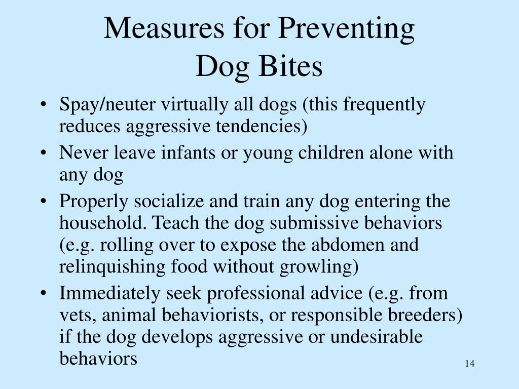 Measures for Preventing