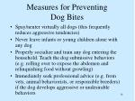 measures for preventing dog bites14