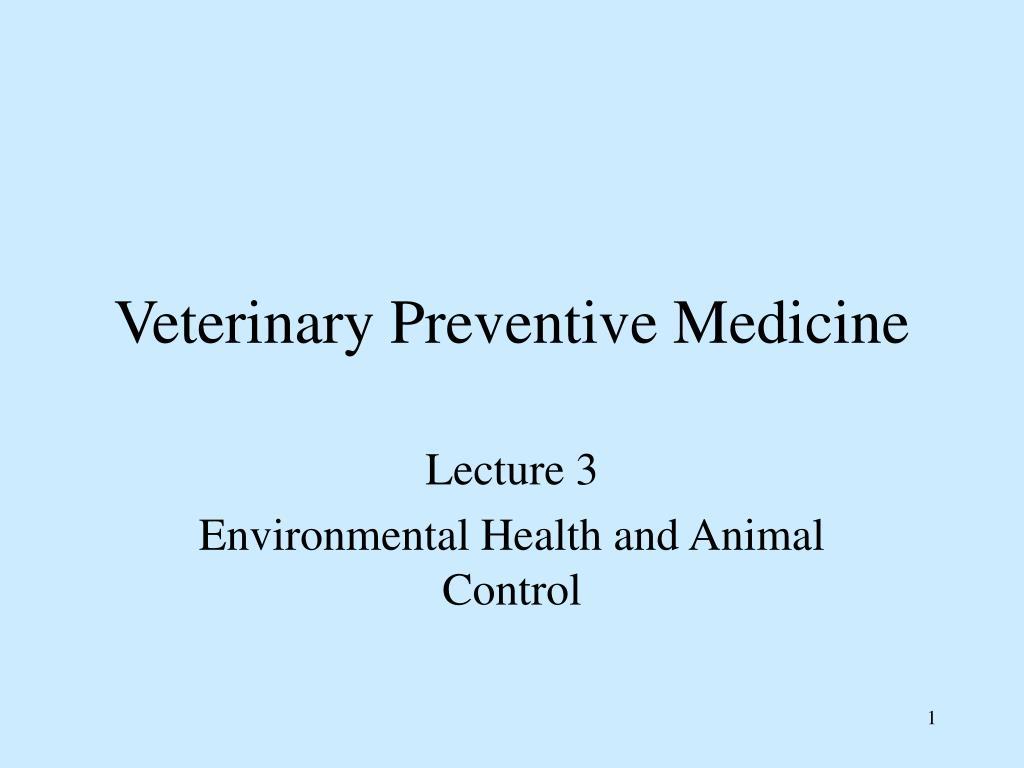veterinary preventive medicine l.