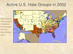active u s hate groups in 2002