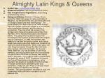 almighty latin kings queens