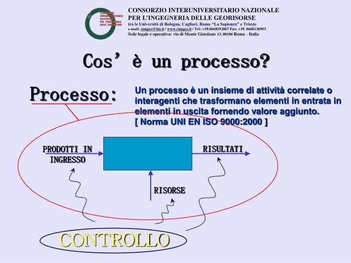 Cos'è un processo?