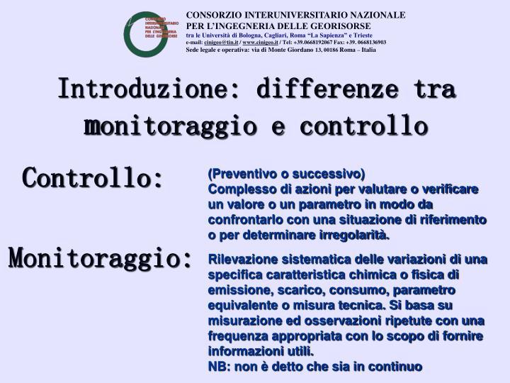 Introduzione: differenze tra