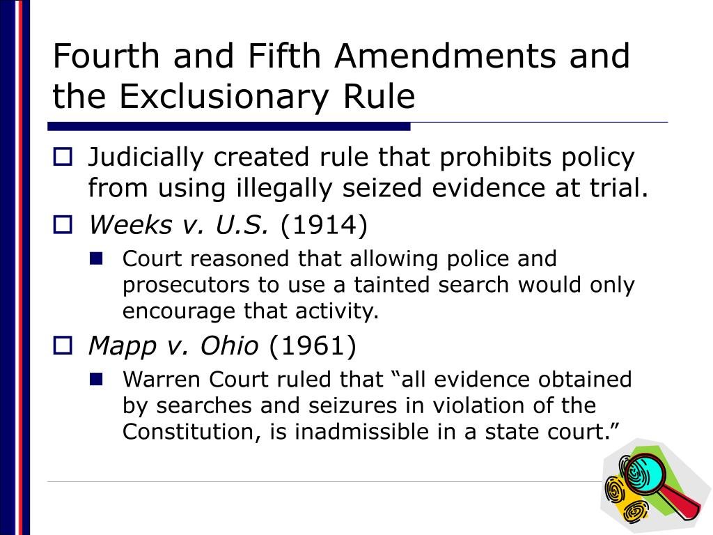 Fourth and Fifth Amendments and the Exclusionary Rule