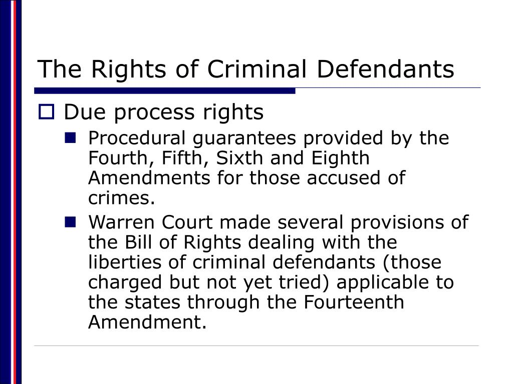 The Rights of Criminal Defendants