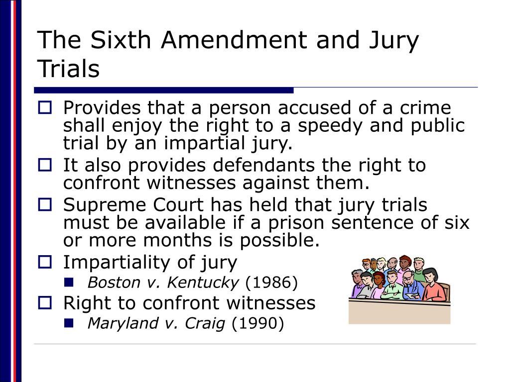 The Sixth Amendment and Jury Trials