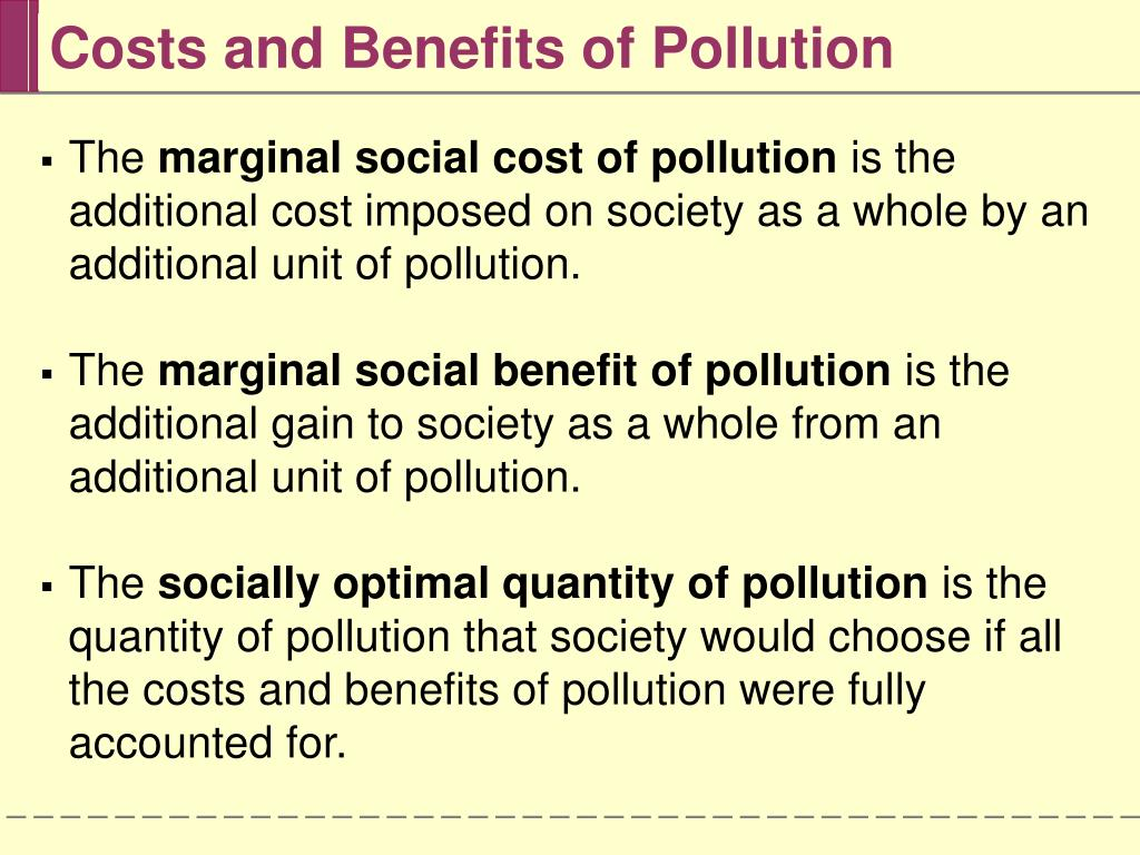 external costs from pollution