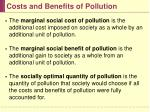 costs and benefits of pollution