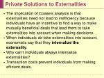private solutions to externalities11