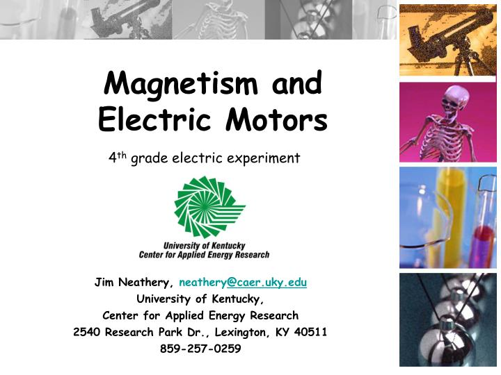 Magnetism and Electric Motors