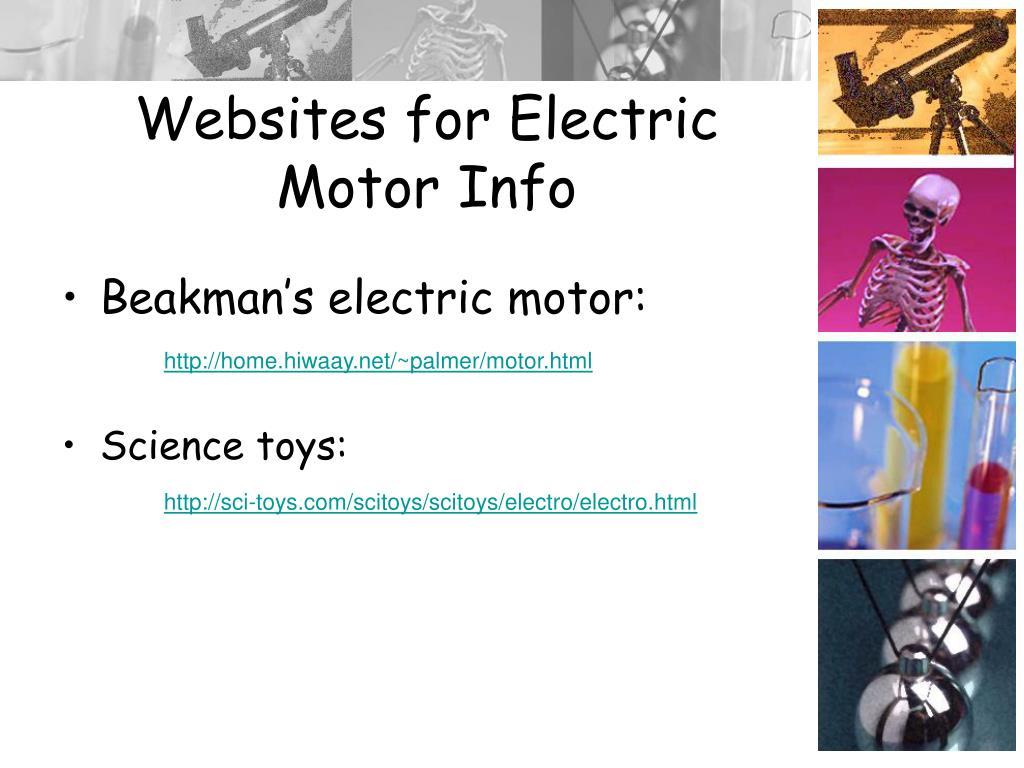 Websites for Electric Motor Info