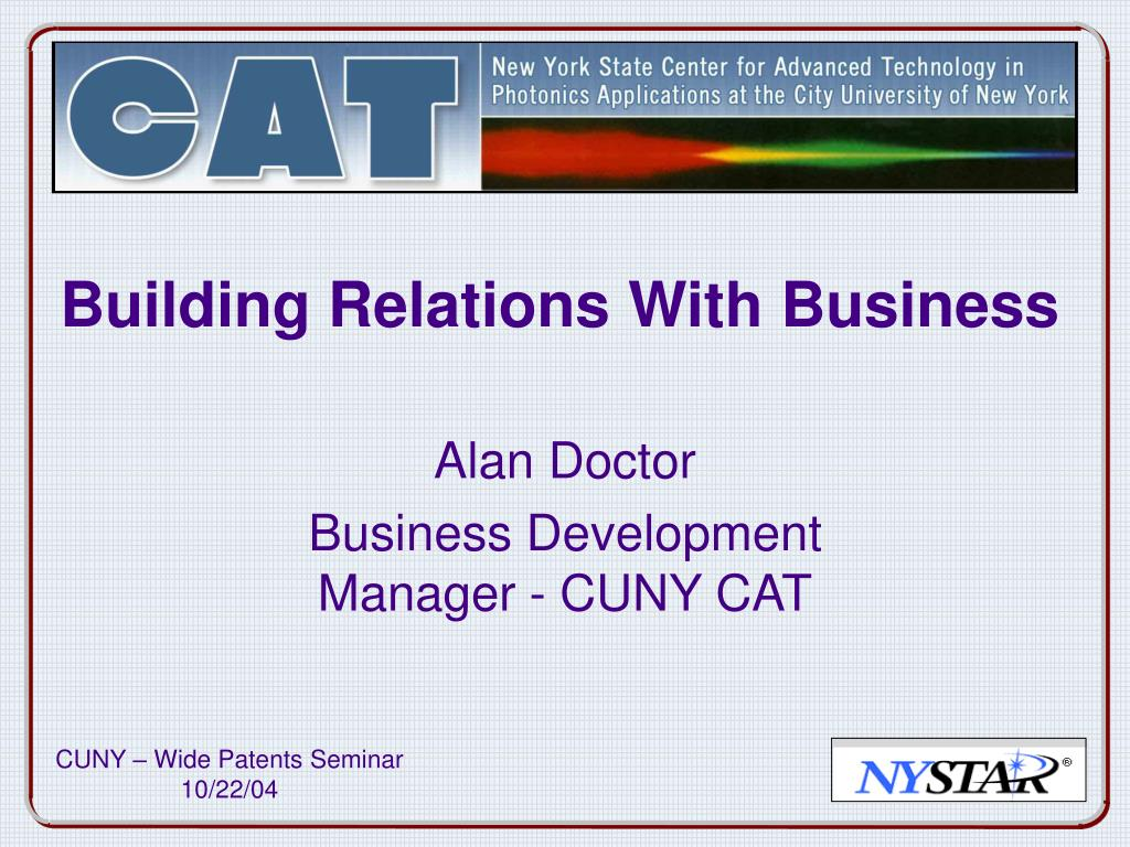 building relations with business l.