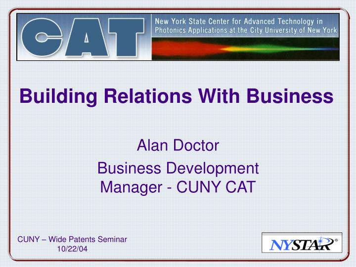 Building relations with business
