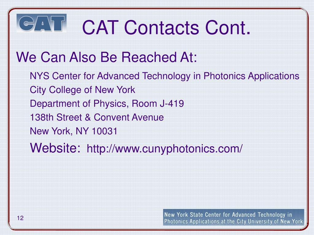 CAT Contacts Cont