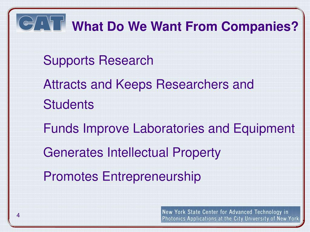 What Do We Want From Companies?