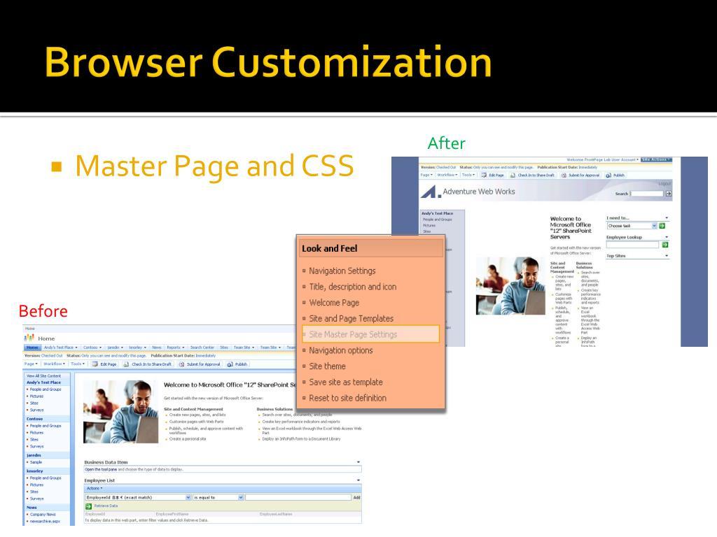 Browser Customization