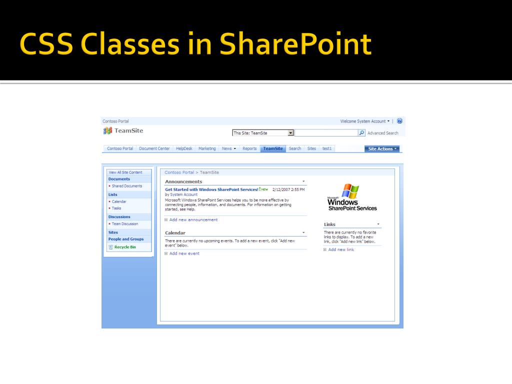 CSS Classes in SharePoint
