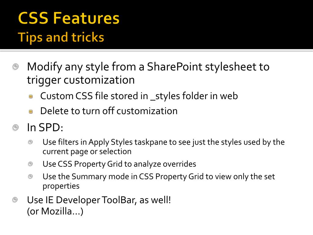 CSS Features