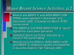 major recent science activities p 2