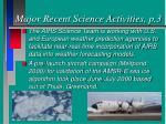 major recent science activities p 3