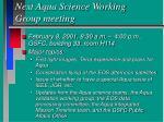 next aqua science working group meeting