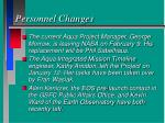 personnel changes