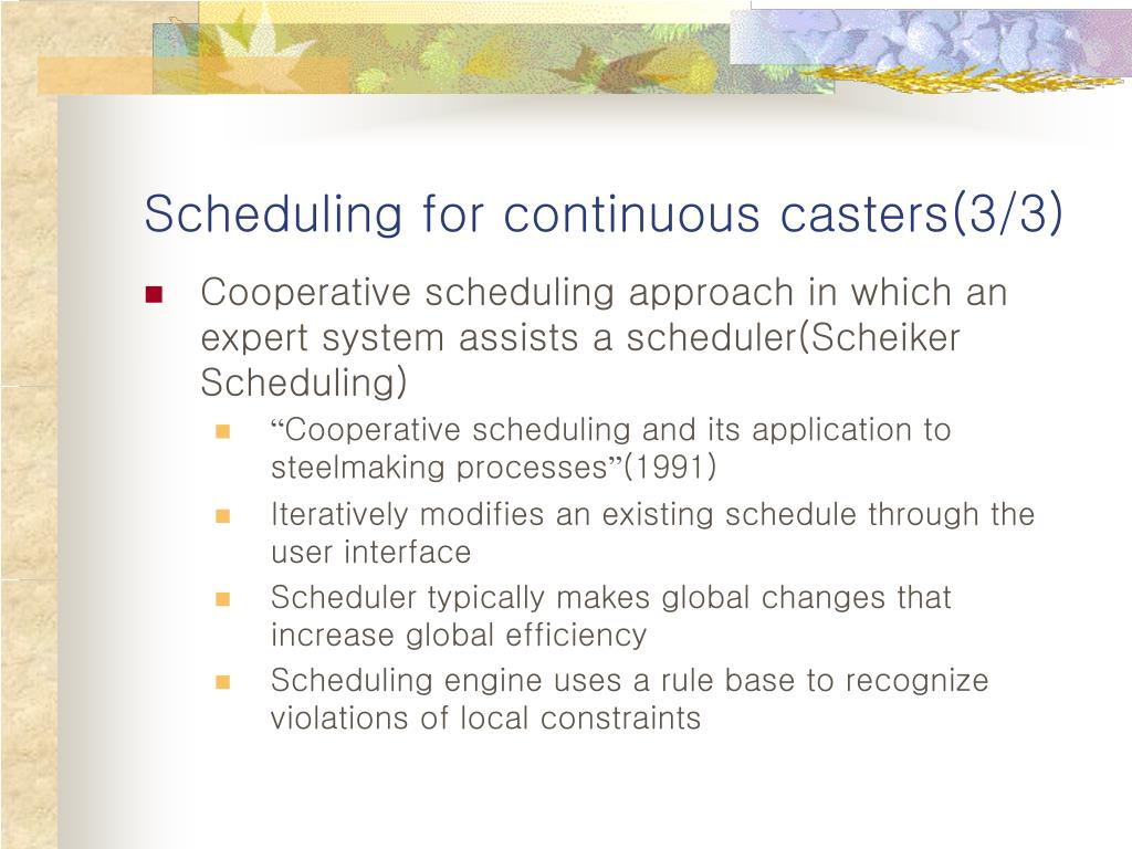 Scheduling for continuous casters(3/3)
